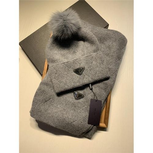 Prada Scarf & Hat Set #833801