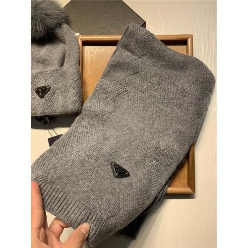 Replica Prada Scarf & Hat Set #833801 $54.00 USD for Wholesale