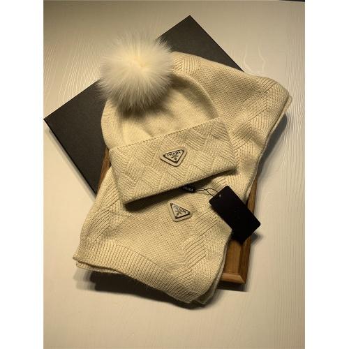 Prada Scarf & Hat Set #833803