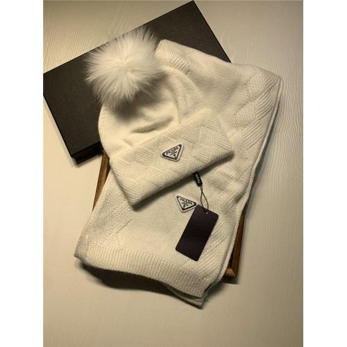 Prada Scarf & Hat Set #833804