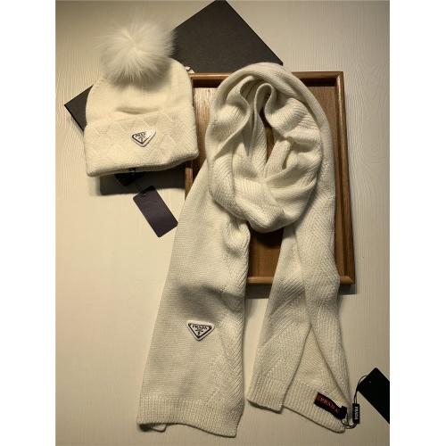 Replica Prada Scarf & Hat Set #833804 $54.00 USD for Wholesale