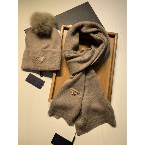Replica Prada Scarf & Hat Set #833805 $54.00 USD for Wholesale