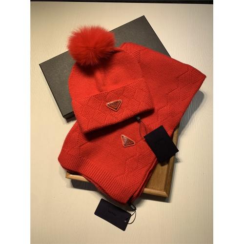 Prada Scarf & Hat Set #833806 $54.00 USD, Wholesale Replica Prada Scarf
