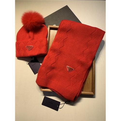 Replica Prada Scarf & Hat Set #833806 $54.00 USD for Wholesale
