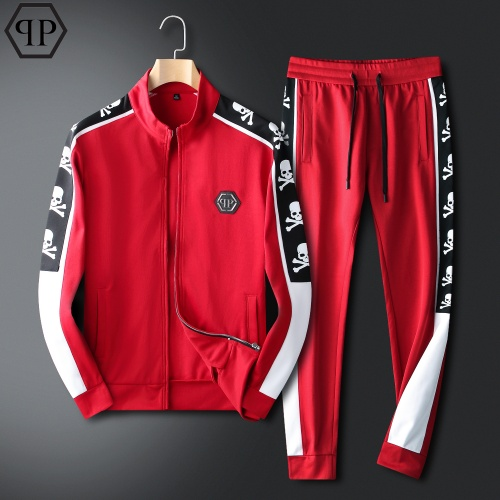 Philipp Plein PP Tracksuits Long Sleeved For Men #833911 $98.00, Wholesale Replica Philipp Plein PP Tracksuits