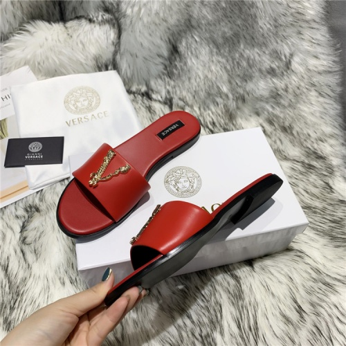 Replica Versace Slippers For Women #833951 $64.00 USD for Wholesale