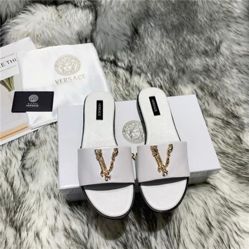 Versace Slippers For Women #833952 $64.00, Wholesale Replica Versace Slippers