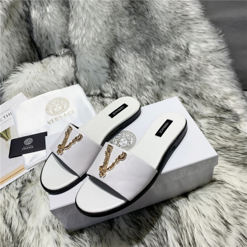 Replica Versace Slippers For Women #833952 $64.00 USD for Wholesale