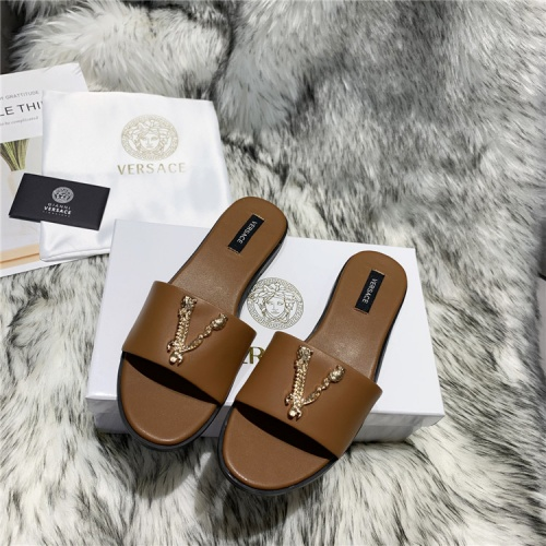 Replica Versace Slippers For Women #833953 $64.00 USD for Wholesale