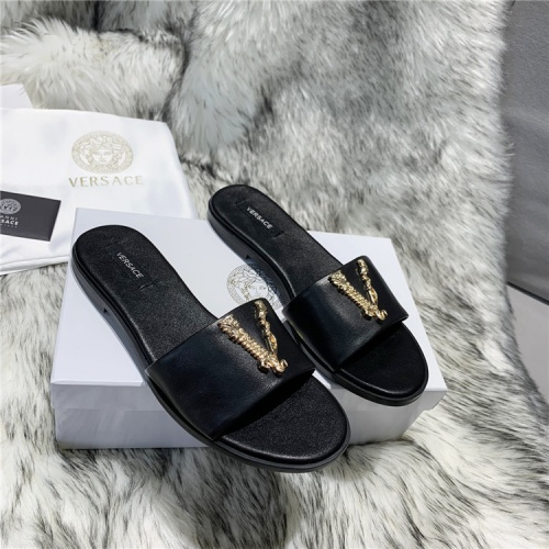 Versace Slippers For Women #833954 $64.00, Wholesale Replica Versace Slippers