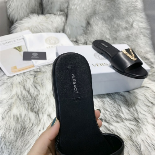 Replica Versace Slippers For Women #833954 $64.00 USD for Wholesale