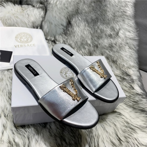 Versace Slippers For Women #833955 $64.00, Wholesale Replica Versace Slippers