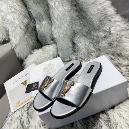 Replica Versace Slippers For Women #833955 $64.00 USD for Wholesale