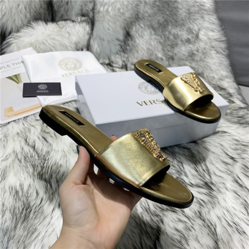 Replica Versace Slippers For Women #833956 $64.00 USD for Wholesale