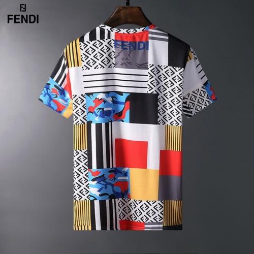 Replica Fendi T-Shirts Short Sleeved For Men #834077 $23.00 USD for Wholesale
