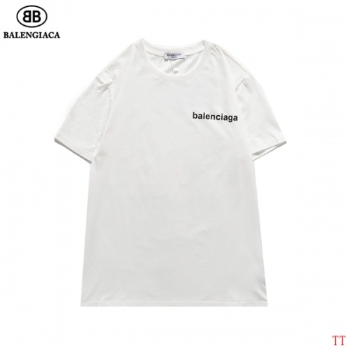 Replica Balenciaga T-Shirts Short Sleeved For Men #834163 $27.00 USD for Wholesale
