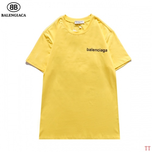 Replica Balenciaga T-Shirts Short Sleeved For Men #834165 $27.00 USD for Wholesale