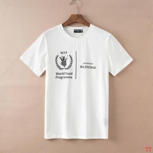 Replica Balenciaga T-Shirts Short Sleeved For Men #834172 $27.00 USD for Wholesale