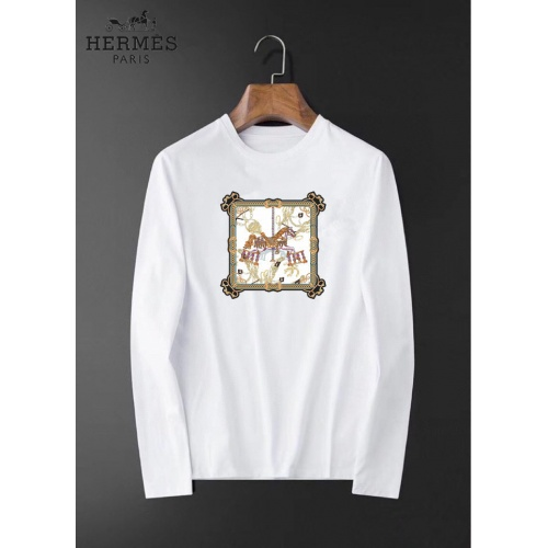 Hermes T-Shirts Long Sleeved For Men #834686 $34.00 USD, Wholesale Replica Hermes T-Shirts