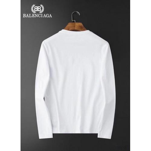 Replica Balenciaga T-Shirts Long Sleeved For Men #834690 $34.00 USD for Wholesale
