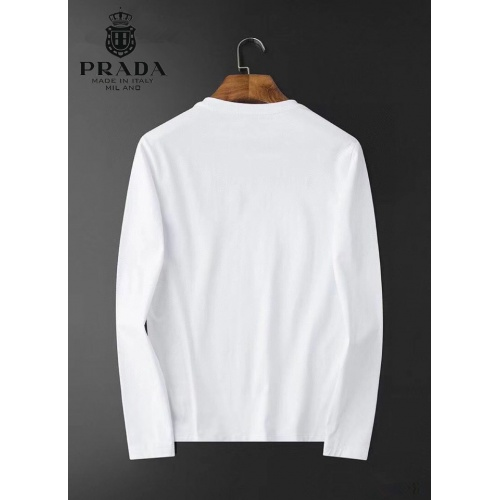 Replica Prada T-Shirts Long Sleeved For Men #834704 $34.00 USD for Wholesale