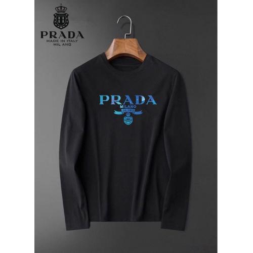 Prada T-Shirts Long Sleeved For Men #834705 $34.00 USD, Wholesale Replica Prada T-Shirts
