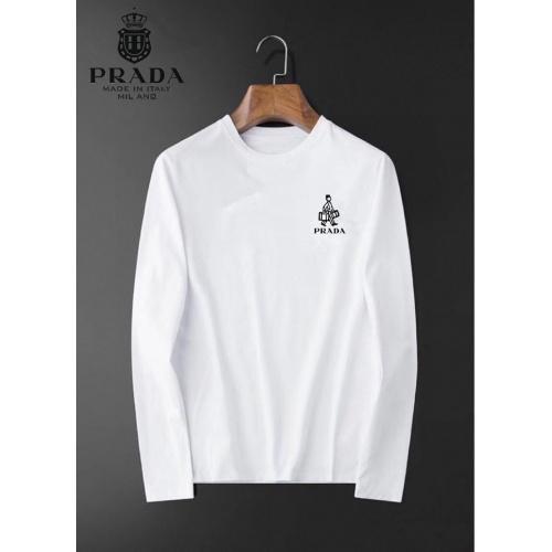 Prada T-Shirts Long Sleeved For Men #834706 $34.00 USD, Wholesale Replica Prada T-Shirts