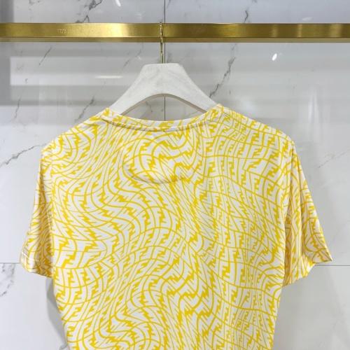 Replica Fendi T-Shirts Short Sleeved For Men #834825 $40.00 USD for Wholesale