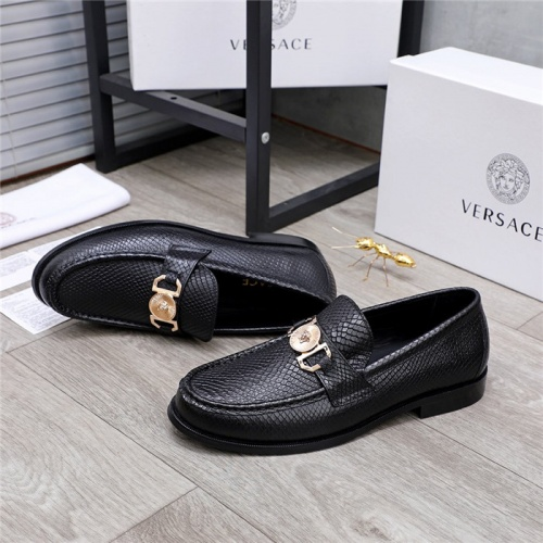 Replica Versace Leather Shoes For Men #834950 $76.00 USD for Wholesale