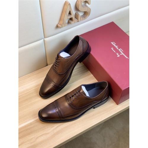 Ferragamo Salvatore FS Leather Shoes For Men #834995