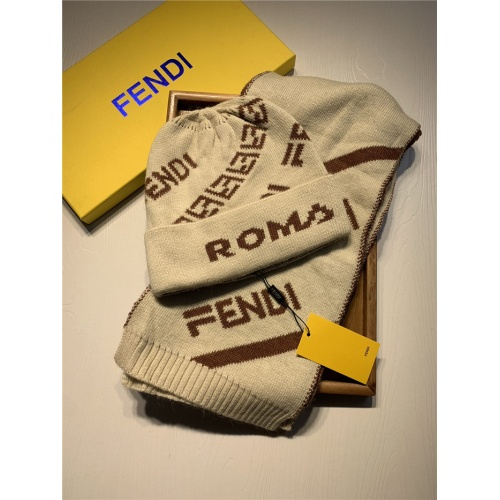 Fendi Scarf & Hat Set For Women #835068 $44.00 USD, Wholesale Replica Fendi Scarf