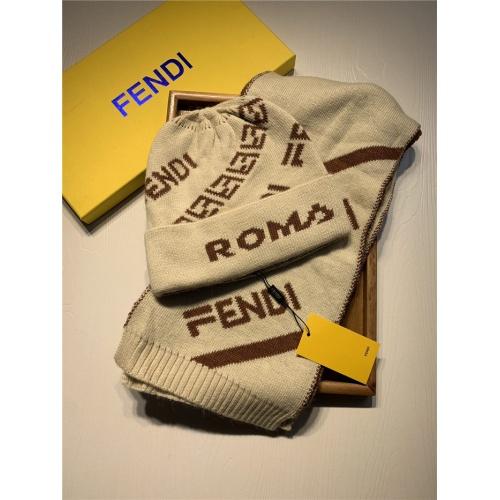 Fendi Scarf & Hat Set For Women #835068
