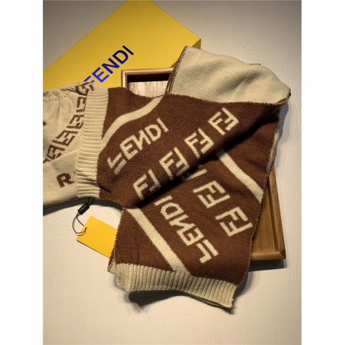Replica Fendi Scarf & Hat Set For Women #835068 $44.00 USD for Wholesale