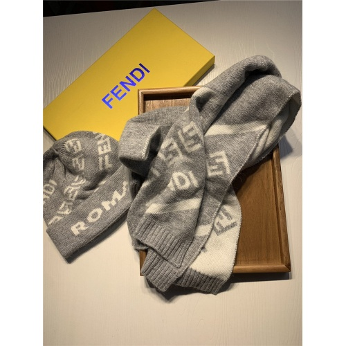 Replica Fendi Scarf & Hat Set For Women #835069 $44.00 USD for Wholesale