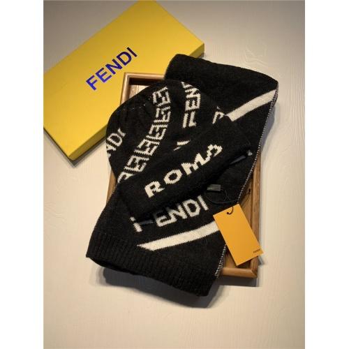 Fendi Scarf & Hat Set For Women #835071 $44.00 USD, Wholesale Replica Fendi Scarf