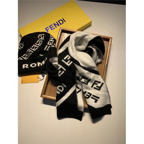 Replica Fendi Scarf & Hat Set For Women #835071 $44.00 USD for Wholesale