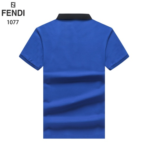 Replica Fendi T-Shirts Short Sleeved For Men #835141 $33.00 USD for Wholesale