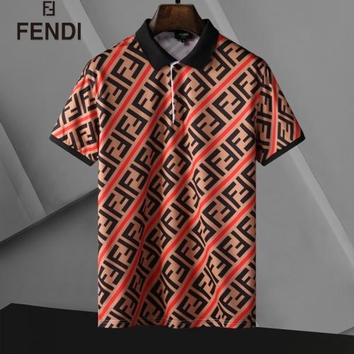 Fendi T-Shirts Short Sleeved For Men #835280 $25.00, Wholesale Replica Fendi T-Shirts