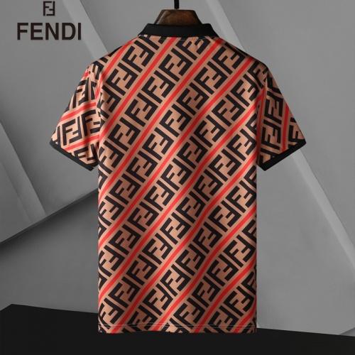 Replica Fendi T-Shirts Short Sleeved For Men #835280 $25.00 USD for Wholesale