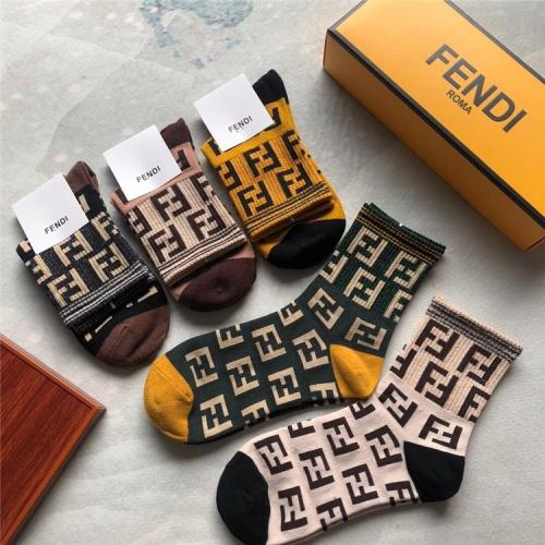 Replica Fendi Socks #835377 $25.00 USD for Wholesale