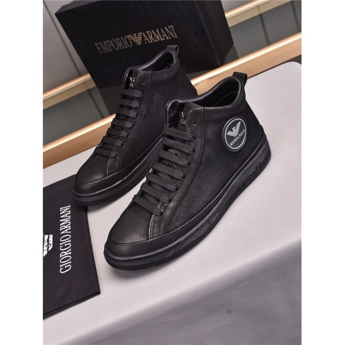 Armani High Tops Shoes For Men #835521