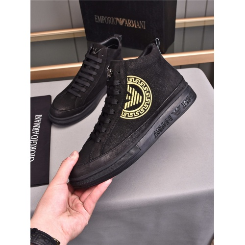 Armani High Tops Shoes For Men #835522