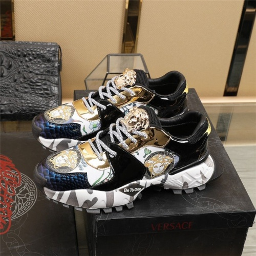 Replica Versace Casual Shoes For Men #835552 $85.00 USD for Wholesale
