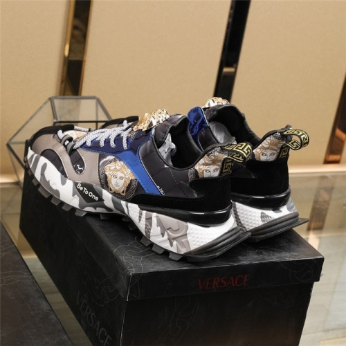 Replica Versace Casual Shoes For Men #835554 $85.00 USD for Wholesale