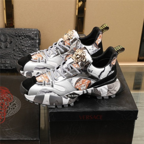 Replica Versace Casual Shoes For Men #835555 $85.00 USD for Wholesale