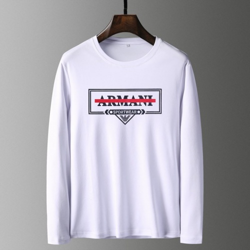 Armani T-Shirts Long Sleeved For Men #835640