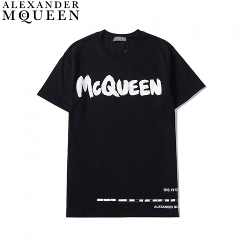 Alexander McQueen T-shirts Short Sleeved For Men #836002
