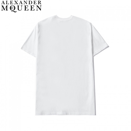 Replica Alexander McQueen T-shirts Short Sleeved For Men #836003 $27.00 USD for Wholesale