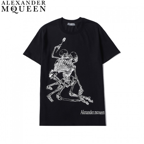 Alexander McQueen T-shirts Short Sleeved For Men #836007 $27.00 USD, Wholesale Replica Alexander McQueen T-shirts
