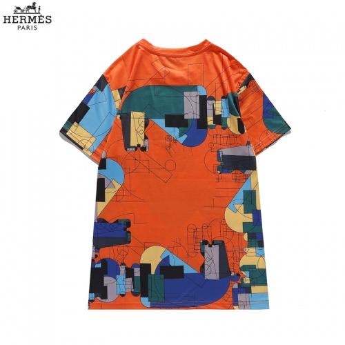 Replica Hermes T-Shirts Short Sleeved For Men #836036 $29.00 USD for Wholesale